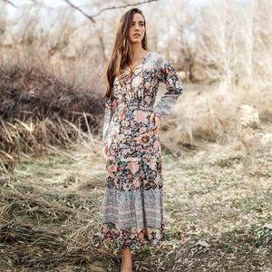 bohme floral cottagecore maxi dress